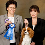 Twinkle Winning Senior Puppy Bitch under Karin Ostmann